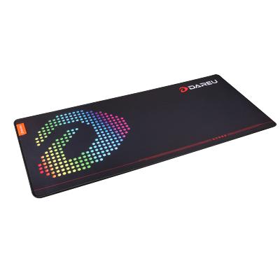 达尔优竞技游戏鼠标垫加大加厚锁边电脑办公家用桌垫CF/LOL笔记本键盘垫桌垫 中号600*300mm细面
