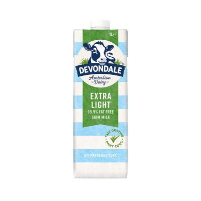 【家庭分享裝】德運(Devondale)脫脂高鈣純牛奶 1000ml*10盒UHT 液奶進口牛奶 學生牛奶箱裝奶送禮禮盒