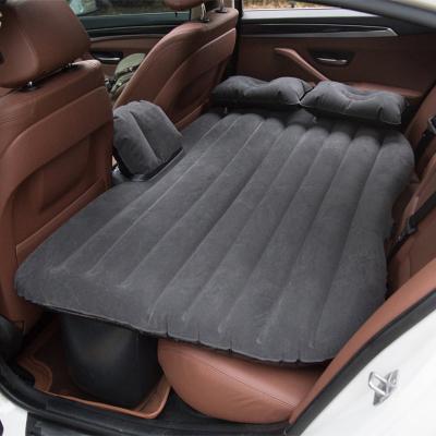 車載充氣床墊成人后排汽車用品轎車閃電客SUV旅行床墊睡墊車上睡覺PVC植絨 連體有檔黑色