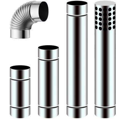 今安 直径70mm不锈钢排烟管7cm加长排气管强排式燃气热水器配件弯头延长管 直径70mm90度弯头