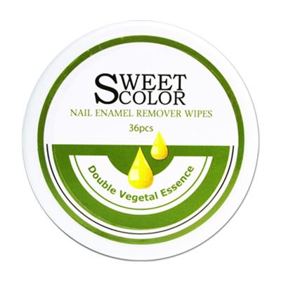 Sweet Color 卸甲巾 植物精油卸甲 36片装(洗甲水卸甲棉二合一 不干涩不伤手 清洁甲油 滋润便携 )