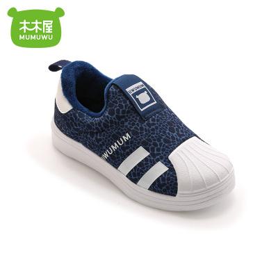 木木屋冬季加绒板鞋中大童休闲鞋2-10岁