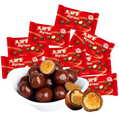 【梁豐旗艦店】牛奶原味麥麗素巧克力豆25g*15包懷舊糖果餅干國產零食批發(代可可脂)