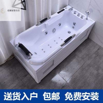 2020年新款沖浪恒溫加熱浴盆成人小戶型衛生間家用1.2-17浴缸亞克力按摩