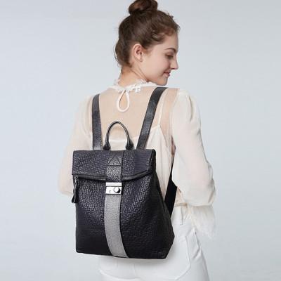 阿斯皮納爾女包2020新款包包女ADD-1807牛皮雙肩包女韓版簡約防盜背包亮片鑲鉆女士手提包包女包休閑旅行包背包