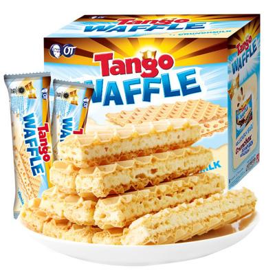 奧朗探戈 Tango 咔咔脆威化休閑餅干(牛奶味)160g 印尼進口 威化 糖巧 巧克力 零食