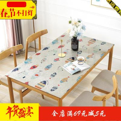 桌面保护膜茶几垫子防水防烫透明桌布餐桌布洗衣机80*130pvc美甲