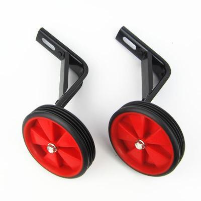兒童自行車輔助輪12/14/16/18/20寸童車輔助輪兩側小輪子配件 紅色【橡膠輪】一套+禮品 16寸