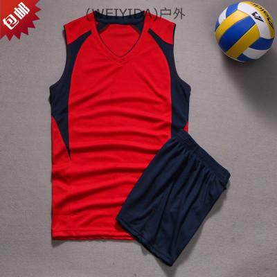 (WA)訓練衣排球款氣比賽排球服服定制服新款無袖短袖組隊套裝男女
