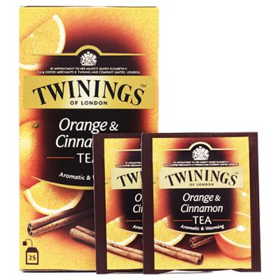英国川宁(TWININGS) 柑桔肉桂果香红茶25包*2g 波兰进口茶叶袋泡茶包