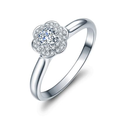 佐卡伊zocai 捧花 為了你我愿意熱愛整個世界同款 18K金鉆戒結婚戒指女