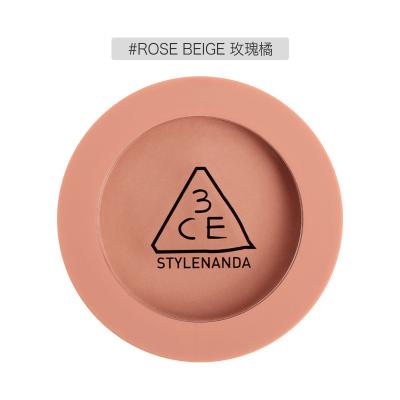 3CE腮紅 MOOD RECIPE情調配方 啞光柔滑修容定妝胭脂腮紅5.5g ROSE BEIGE# 細膩服帖 不飛粉