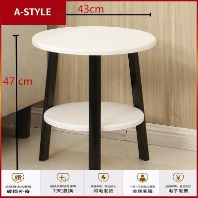 蘇寧放心購實木時尚簡約沙發邊角幾小茶幾邊幾邊柜床頭桌角桌圓桌子邊桌A-STYLE