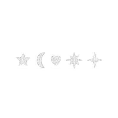 【直營】apm MONACO混搭風耳釘組合925銀鑲晶鉆女士耳釘耳墜耳環送戀人