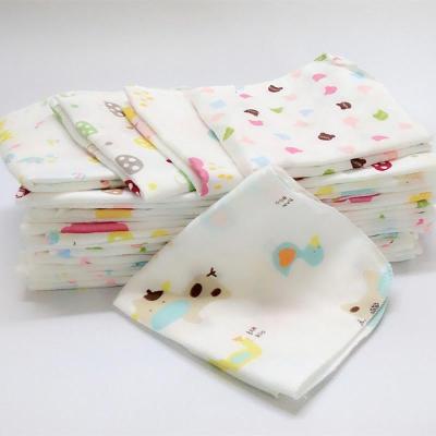 10條裝嬰兒質紗布手帕口水巾紗布方巾 雙層 四層 喂奶巾 手絹