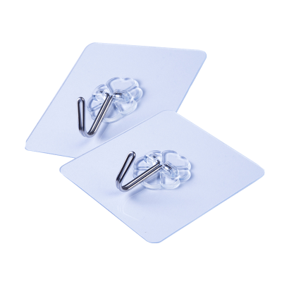 【單鉤15個裝】潘西透明掛鉤無痕粘膠掛鉤廚房浴室壁掛墻壁鉤子 免釘衣鉤粘鉤