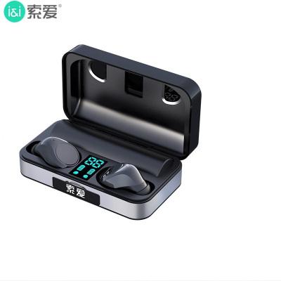 索愛(soaiy)T5 真無線 藍牙耳機 適用于蘋果華為安卓跑步 雙耳通話 入耳式 手機耳機 音樂耳機 觸控操作 5.0