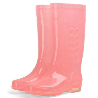 果凍雨鞋女水鞋女牛筋底防滑防水雨鞋雨靴成人保暖時尚水鞋 莎丞