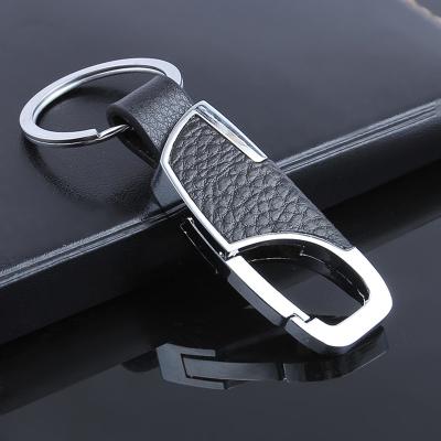 ZHUAX男士汽車鑰匙扣金屬腰掛鑰匙扣創意汽車鑰匙鏈金屬鑰匙圈環掛件簡約創意個性時尚款