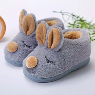 兒童棉鞋秋冬親子男女童寶寶小孩毛毛拖鞋加絨加厚保暖棉拖包跟莎丞