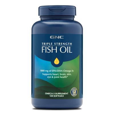 GNC健安喜三倍功效5X高濃縮深海魚油120粒omega-3美國原裝正品歐米伽