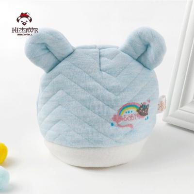 班杰威尔Banjvall新生纯棉秋冬季0-3月-6个月男女通用宝宝满月加棉保暖初生儿胎帽
