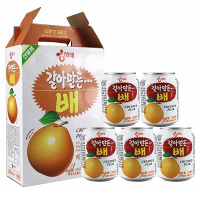 韓國進口海太(HAITAI)梨汁238mlx12瓶整盒裝