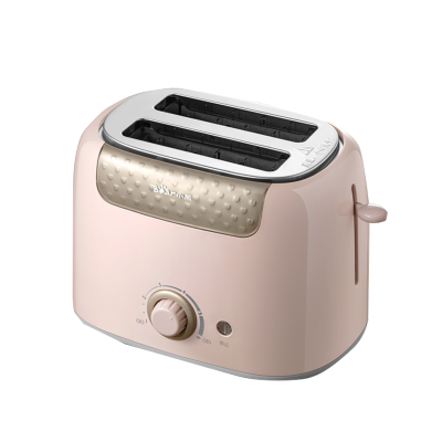 小熊烤面包機 DSL-601 六檔調節 快速烘烤 便于清潔 家用片多功能早餐機小型多士爐壓加熱全自動土吐司機 粉色