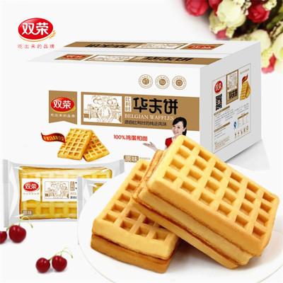 双荣 原味华夫饼 2000g 糕点 点心 早餐食品 办公室休闲零食