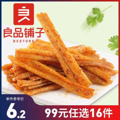 【任選】良品鋪子 香辣味烤面筋 200gx1袋裝 豆制品休閑零食 豆干辣條味休閑食品