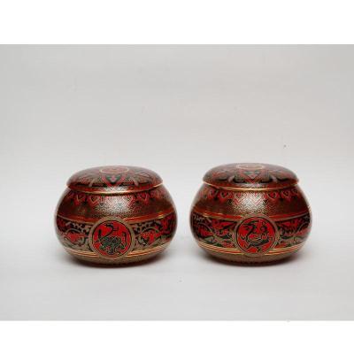 中国工艺美术师张同禄景泰蓝《围棋罐》