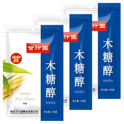 甘汁園 木糖醇125g*3袋 代糖無蔗糖
