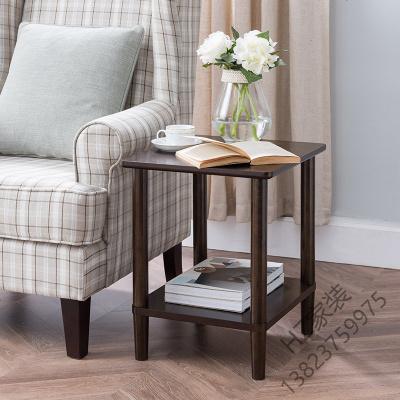2020新款 日式邊幾簡約現代小茶幾小戶型客廳咖啡桌實木角幾長方形沙發邊柜歐因
