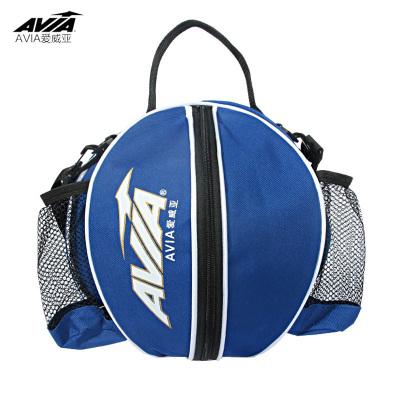愛威亞Avia單肩手提籃球圓包加厚尼龍布訓練運動背包籃球袋網兜足球排球收納網帶袋包