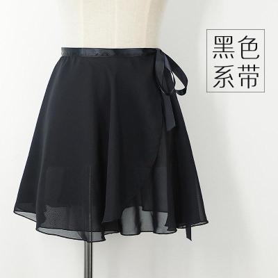 芭蕾舞練功服舞蹈紗裙成人女一片式雪紡圍裙兒童跳舞系帶半身短裙