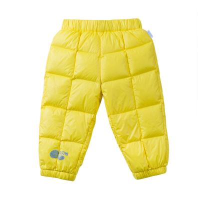 貝貝怡男女寶寶羽絨褲兒童冬季款保暖小童嬰兒加厚輕薄外穿長褲子