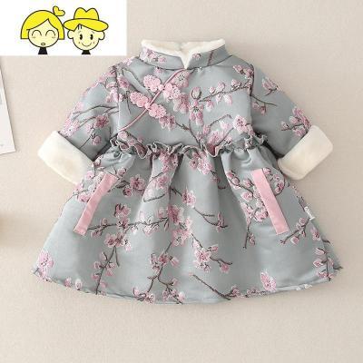 女童冬款旗袍过年喜庆宝宝拜年服周岁礼服婴儿唐装中国风洋气汉服