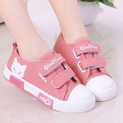 兒童帆布鞋2020新款親子小白鞋夏季韓版學生男童鞋子板鞋女童 TCVV