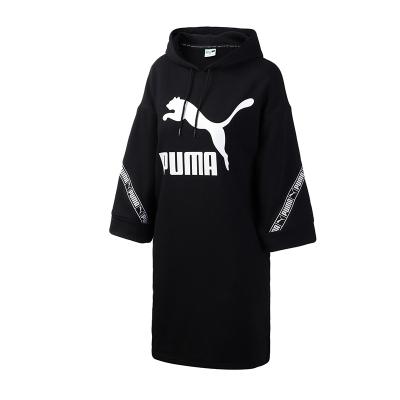 【蘇寧自營】PUMA彪馬女裝運動服串標七分袖連衣裙衛衣596026