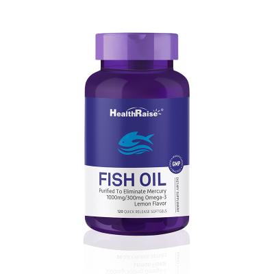 【送父母長輩必備】Health Raise歐米伽-3魚油軟膠囊無腥味高強度深海魚油膠囊 100粒/瓶 美國進口
