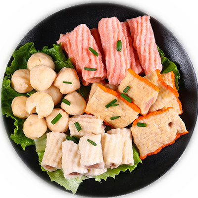 迪亚斯 深海鱼丸组合包500g 火锅食材麻辣烫关东煮火锅丸子豆捞烧烤食材海鲜味 袋装 丸子