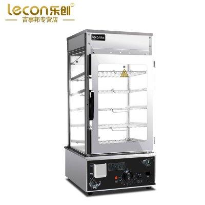 lecon/乐创商用600H蒸包机电蒸箱 蒸包子馒头机电蒸箱 不锈钢普通加热保温展示柜 立式包子蒸烤箱早餐