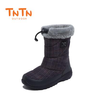 NTN戶外冬季保暖防水加絨厚底東北羊毛男女士鞋雪鄉地棉靴子