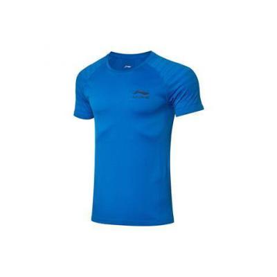 李寧短袖T恤2020新款乒乓球系列速干涼爽一體織梭織運動服AHSQ103