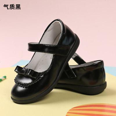 小林川子女童皮鞋2019秋季新款儿童单鞋白黑色公主鞋百搭软底