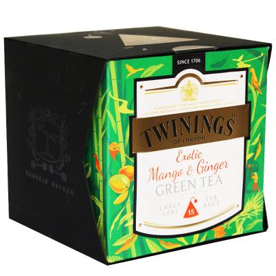 英国川宁(TWININGS) 异国风情姜芒绿茶15包*2g 波兰进口茶叶袋泡茶包
