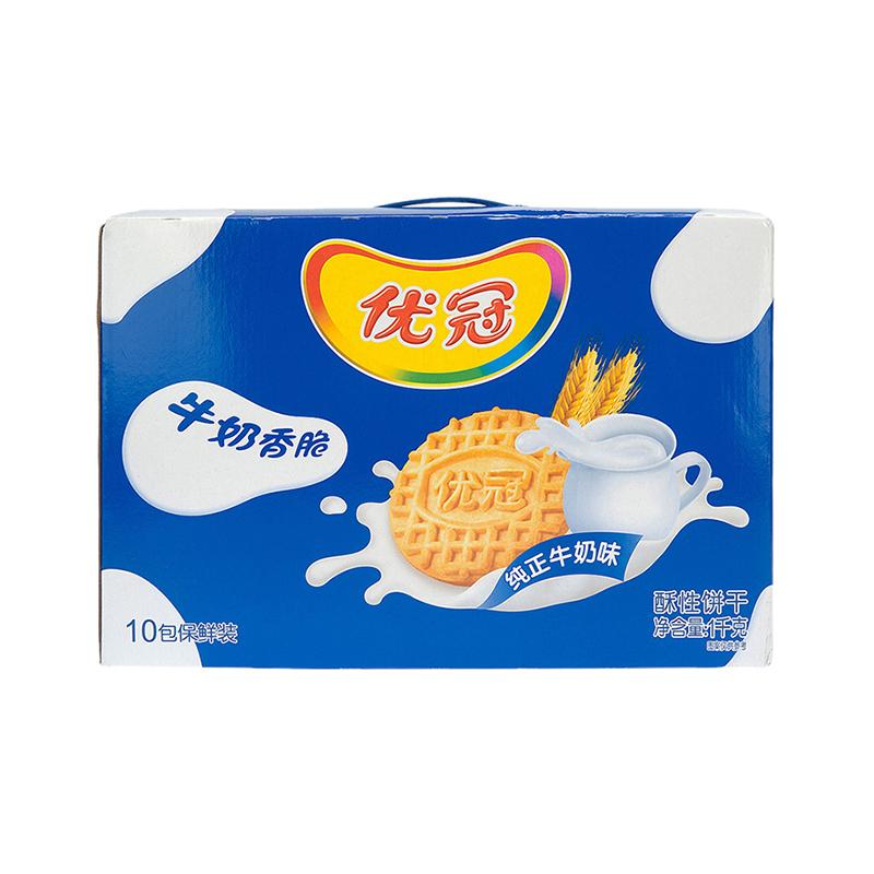 优冠牛奶香脆饼干盒装1kg