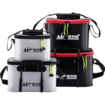 佳釣尼 多功能水桶魚護桶魚箱裝魚桶折疊活魚桶EVA水桶加厚釣魚桶