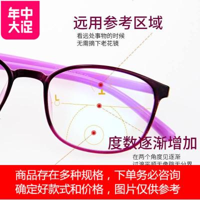 镜架默认发紫色,如需其它颜色拍下后请在订单内备注显年轻老花镜女远近两用自动调节度数变焦智能高清老光眼镜老花眼 定