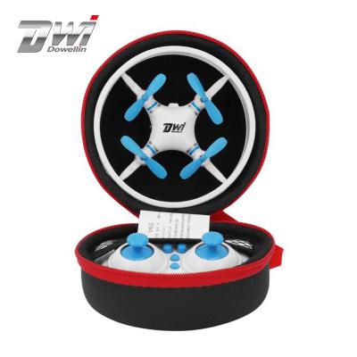 致遠模型(Dwi)【360°防護耐摔】無人機防撞迷你飛行器飛碟航模男孩小型無線遙控飛機兒童玩具可充電 藍色無航拍便攜包